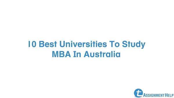 best mba university in Australia