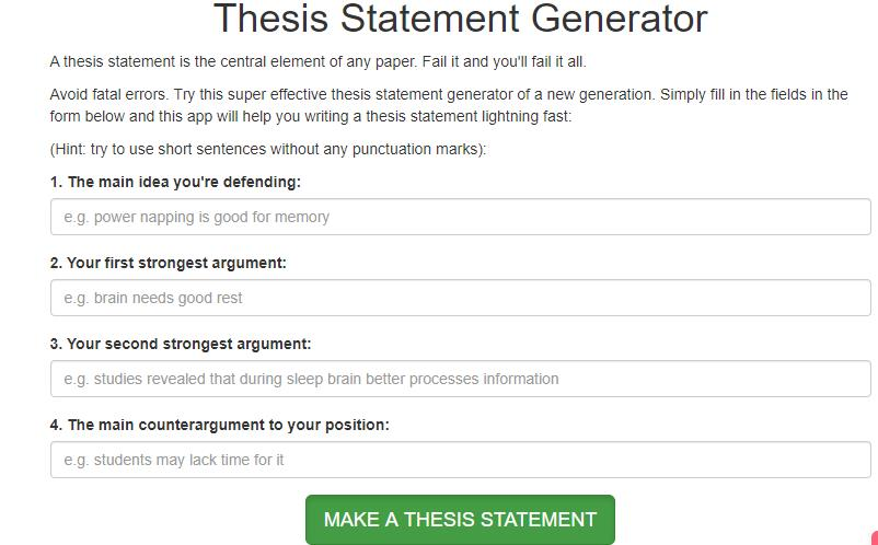 Thesis statement maker