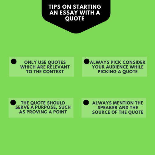 How to start an essay with a quote
