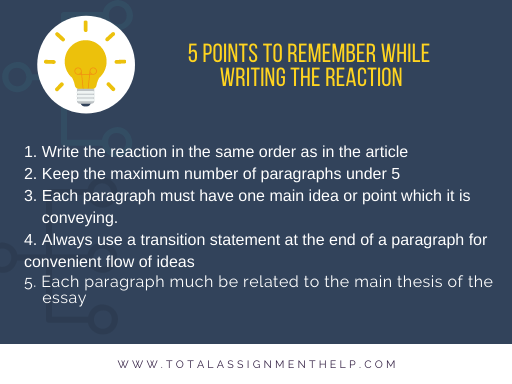 How to Write a Reaction Paper
