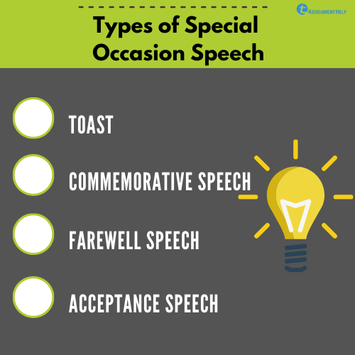 Special occasion speech