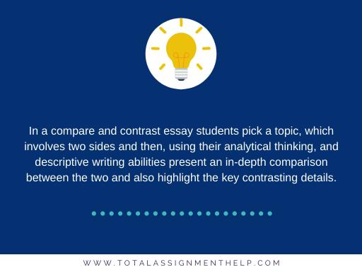 compare and contrast essay student