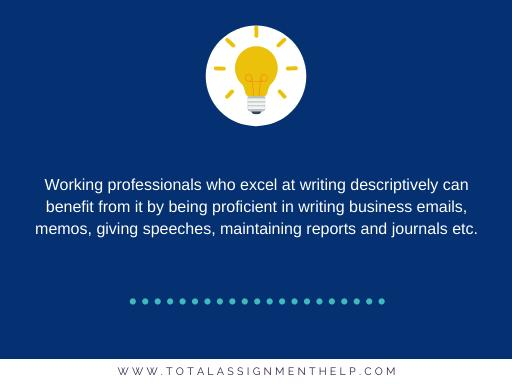 excel at writing descriptively
