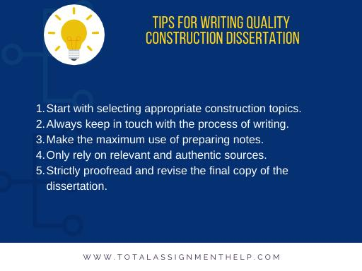 tips for writing a quality construction dissertation