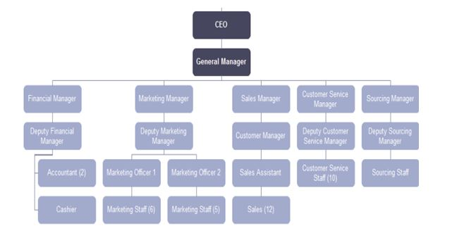 Hungry Jacks Organisational Structure