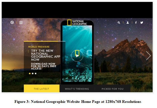 National Geographic Website Home Page at 1280x768 Resolutions