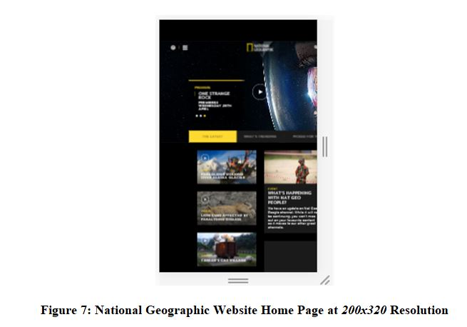 National Geographic Website Home Page at 200x320 Resolution