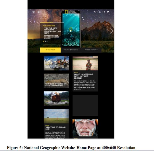 National Geographic Website Home Page at 400x640 Resolutions