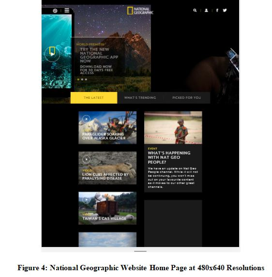 National Geographic Website Home Page at 480x640 Resolutions