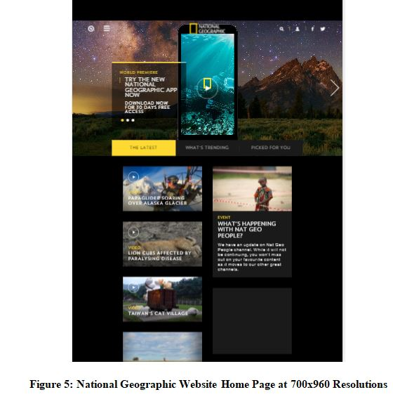 National Geographic Website Home Page at 700x960 Resolutions