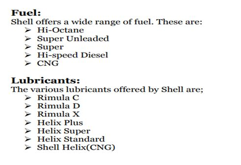 Shell Company products
