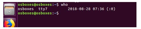 Who command in os assignment