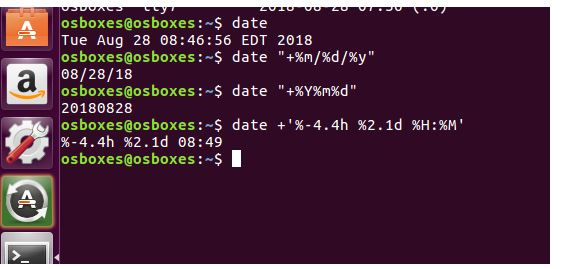 Date command in os assignment
