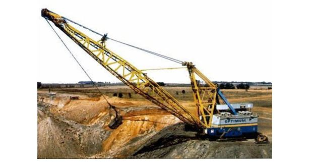 dragline excavator in mining engineering systems
