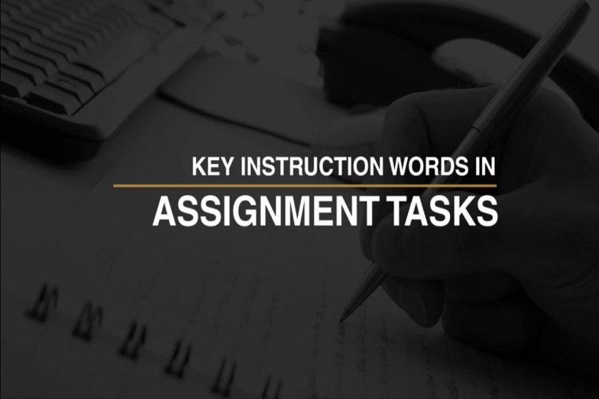 key instruction words in assignment tasks