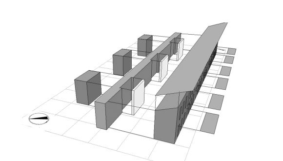 linear house system building design