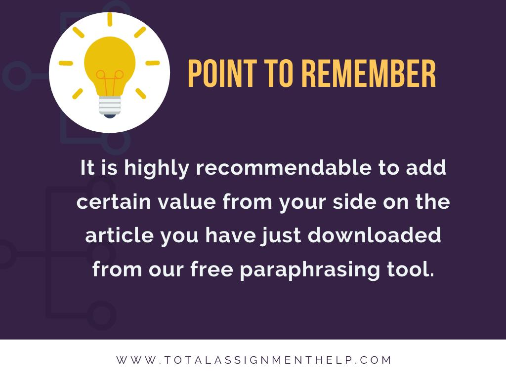 paraphrasing tool online point